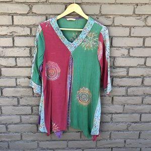Soft Surroundings Pastel Bali Tunic sz XL